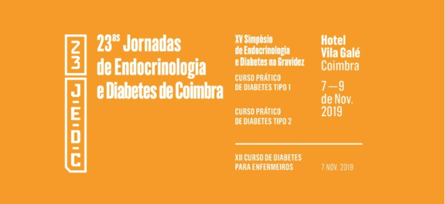 Save the date: 23.ªs Jornadas de Endocrinologia e Diabetes de Coimbra