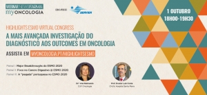 "Em contagem decrescente para o webinar ""Highlights ESMO Virtual Congress 2020"""